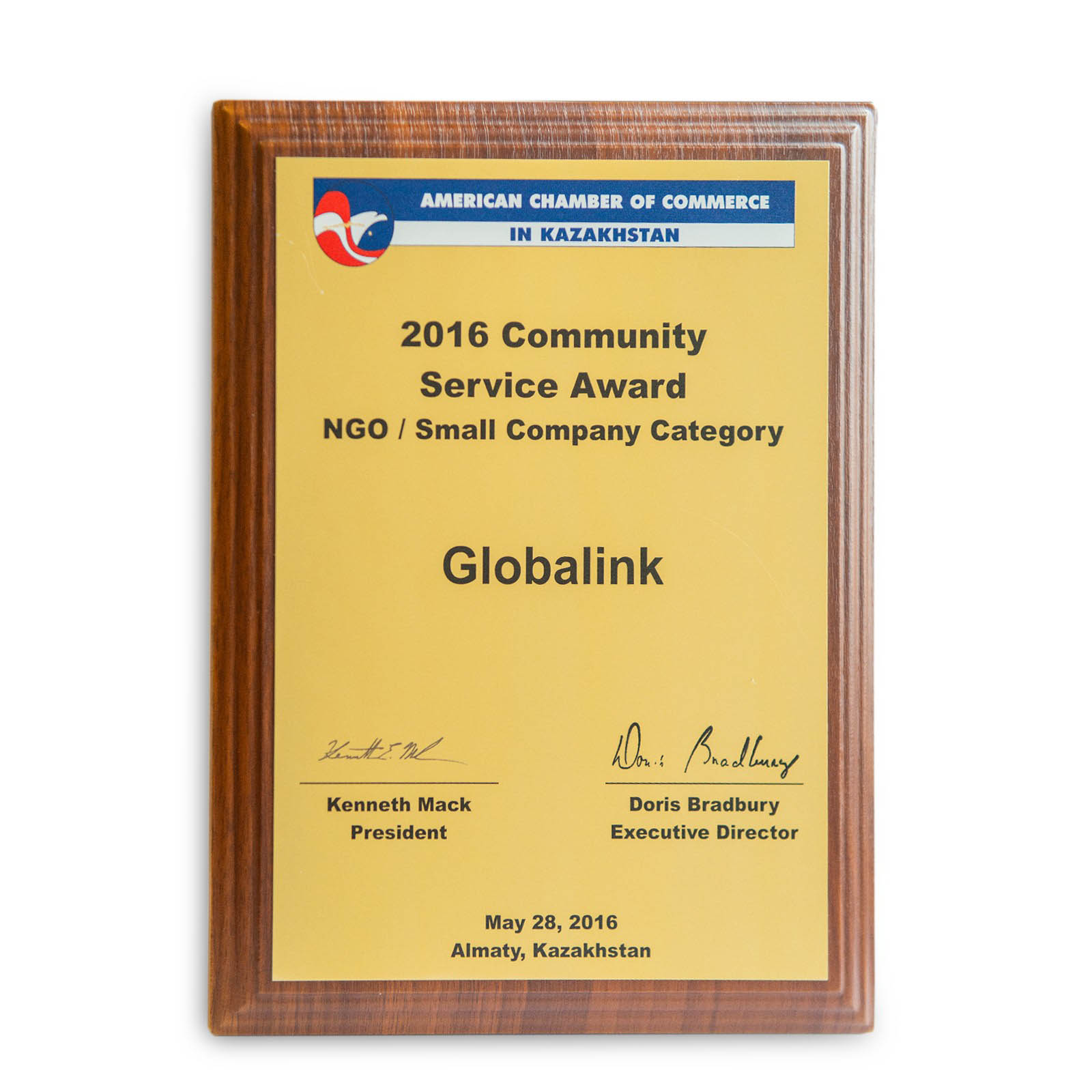 Community Service Award from Amcham